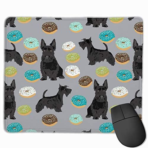 Scottie Donuts Mouse Pad Gaming Speed Version Mouse Mat, Non-Slip Rubber Base Mousepad, for Laptop, Computer,25 x 30 cm -