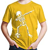 HARIZ Jungen T-Shirt Dab Skelett mit Fussball Dab Teenager Dance