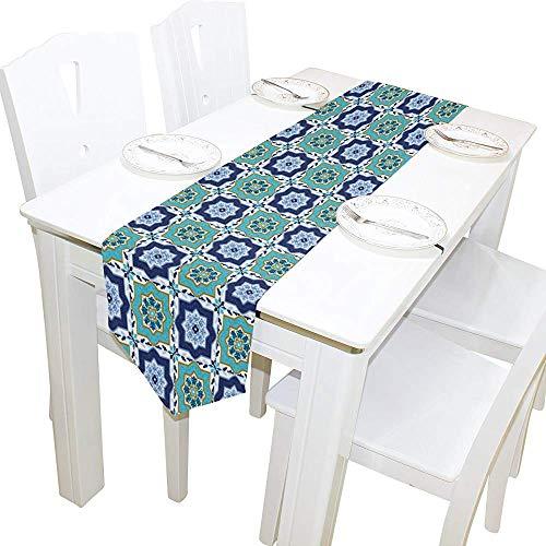 Garry Henry Tischläufer Home Decor, stilvolle italienische Blumen Tischdecke Läufer Kaffeematte für Hochzeitsfeier Bankett Dekoration 13 x 90 Zoll -