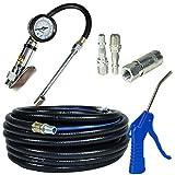 Die Durchführung von Air 15m / flexible mit gonfleur von Rad, Reifen, das Bolzenschußgerät air und kit Zubehör (Anschlüsse FT10 x 2 x 1   FT07)