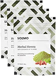 Amazon Brand - Solimo Herbal Henna, 200g (Pack of 3)