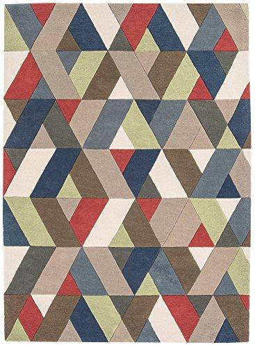 MODERNER Designer Teppich GLOMA LÄUFER, Multi Color Chevron, 70 X 200 cm (Chevron Läufer Teppich Schwarz)