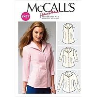 McCalls M6750 - Patrón de costura para confeccionar camisa de mujer (3 modelos diferentes)