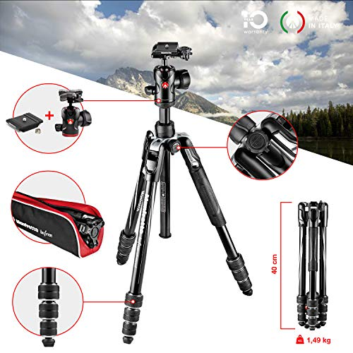 Manfrotto MKBFRTA4BK-BH Befree Advanced Treppiede da Viaggio,...
