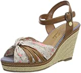 TOM TAILOR Damen 4890801 Riemchensandalen, Braun (Mud), 41 EU