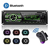 HCLKSTORE Autoradio Bluetooth Main Libre, Poste Stéréo Radio avec 2 Ports USB, 1 Din Radio Voiture, USB/TF/AUX/FM/MP3 Player,...