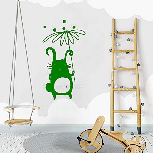 jiushizq Simpatico Personaggio Decalcomania Bambino Nursery Wall Decalcomanie in Vinile Design Monocromatico murale Impermeabile Poster Arredamento d'interni Adesivi murali L 5 56 cm x 104 cm