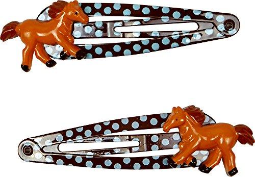 Spiegelburg Haarclips Pferdefreunde (braun /hellblau)