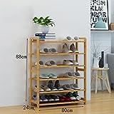 Schuhschrank für den Haushalt Schuhständer Bambus Regale Multi - Layer Staub - feste Massivholz Schuhständer Montage wirtschaftliche Regale Hause Wohnzimmer Schuhschrank Einfacher Schuhschrank ( größe : 80cm )
