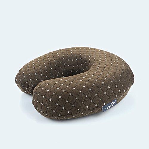 Nackenhör U-Kissen Camouflage Neck Neck Kissen Reisekissen Zervikale Kissen Büro PM Nap Kissen U-Shape Memory Pillow ( Farbe : Knitted brown )