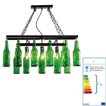 Kare lampe suspension bouteilles de bi re - Amazon luminaire suspension ...