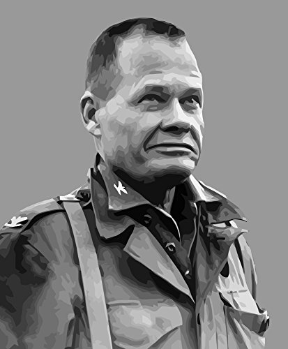 John Parrot/Stocktrek Images - Vector Portrait of Lieutenant General Lewis Burwell Chesty Puller Photo Print (20,32 x 25,40 cm) -