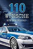 Geburtstagskarte Polizeiauto | Karte für Männer | Glückwunschkarte zum Geburtstag | Geburtstagskarten Set mit Umschlag | Glückwunschkarte mit Prägung | Klappkarte