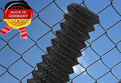 Maschendrahtzaun 60 x 60 mm, 25 ldm 150 cm anthrazit - schwarz Maschendraht Zaun Rolle Zaunrolle von BSG - Du und dein Garten