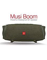 iBall Musi Boom IPX7 Waterproof with Built-in Powerbank Portable Bluetooth Party Speaker (Military Green)