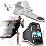 (weiß + Ohr Phone 137 x 69) vkworld F1 Fall Spannbettlaken Sports Armbinden Running Bike Radfahren Fitnessstudio Joggen befreit Arm Band Case Cover mit Case in Ear Buds Stereo-Hände Kopfhörer Headset Mikrofon und On-Off-Button Ausgestattet von i-tronixs