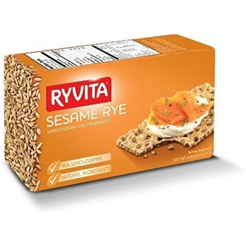 Ryvita Whole Grain Rye Crispbread, Sesame Rye, 8.8-Ounce Boxes (Pack of 10) by Ryvita - Ryvita Whole Grain
