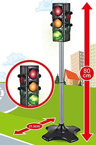 80 cm Spielzeug Ampel mit Lichtwechsel für Auto- und Fußgängerverkehr perfekt für kleine Bobby Car Fahrer - 2