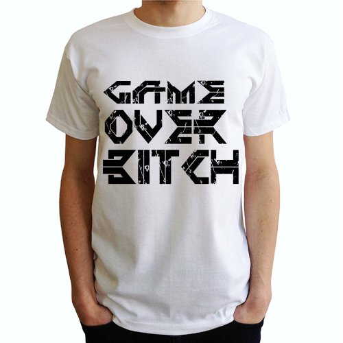 Game Over Bitch Herren T-Shirt Weiß