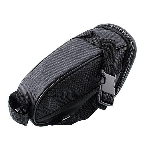 beeway® Bike Satteltasche, Outdoor Cycling Mountain Fahrrad Rücksitz Pack Aufbewahrungstasche–Wasser Resistent, Farben schwarz - schwarz
