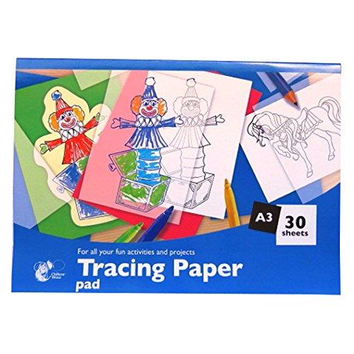 A3 Tracing / Transferpapier Notizblock - 30 Blatt - Größe 420mm x 297mm