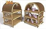 Kit für Porta Cupcake Regal aus MDF für Candy Bar Tisch Süß. Basteln mit Holz