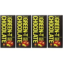 Amul 55% Green-T Chocolate Bar, 150g [Pack of 4, Made from Green Tea Extracts, Natural Source of Antioxidant]