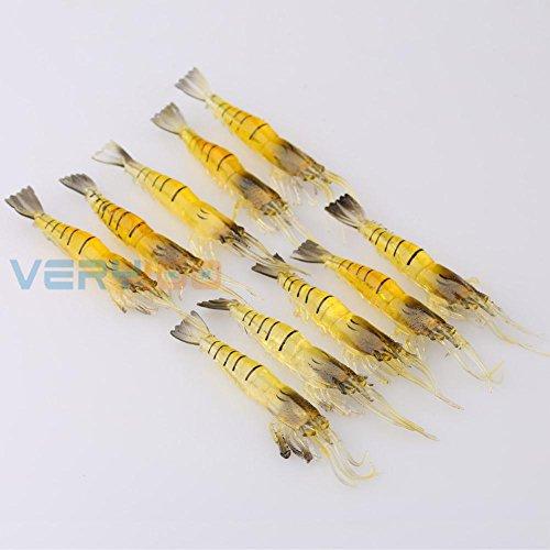 Lot 10pcs Soft Silicon King Prawn Sized Shrimp Lure 4g/95m for Bream Flathead Snapper Free Shipping