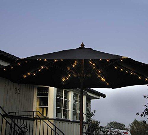 72 LED Solar Sonnenschirm Lichterkette 8x 1,2m Sonnenschirmbeleuchtung