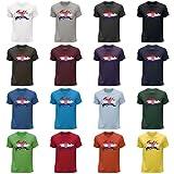 STUFF4 Herren/Rundhals T-Shirt/Kroatien/Kroatisch Flagge Splat/CS