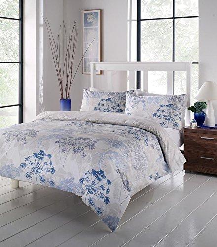 Floral Weiß Beige Blau Bettwäsche Tröster Bezug, Single -