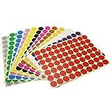 19mm Runde Dot Aufkleber Farbkodierung Etiketten, 12 verschiedene sortierte Farben Dot Labels, 12 Blätter