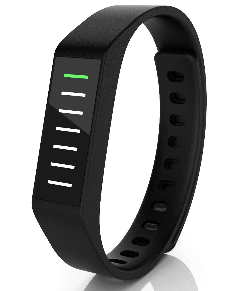 Striiv Activity Tracker Smart Watch Pedometer Touchscreen OLED Display Ion Glass
