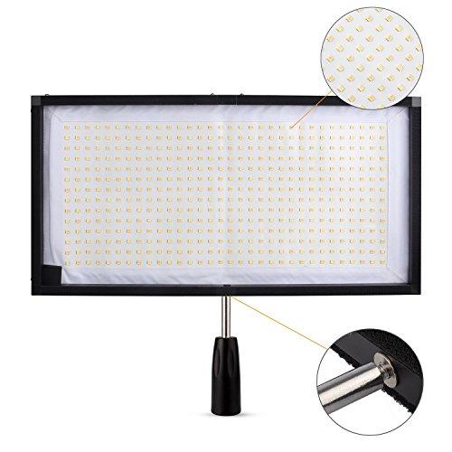 EACHSHOT FL-3060A 30x60cm Flex Bi-Color Mat CRI≥90 3200-5500K 480 LED Lumens Max 8000LM Flexible Moldable LED Video Fabric Light Slim Ultralight Panel with 2.4G Remote
