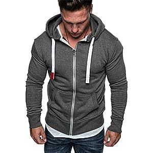EUZeo Sweat Zip Hood Noos Sweatjacke Hoodie mit Reißverschluss Casual Sweatshirts Sportlich Hoody Shirt Drastring Cardigan