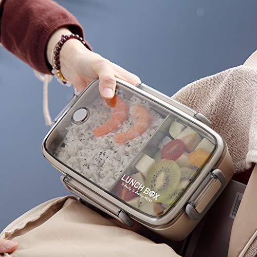 Rifuli Lunchbox Kinder mit fächern Mehrschicht-Edelstahl-Isolierungs-Mittagessen-Bento-Kasten-Nahrungsmittelbehälter snackbox Brotdose brotzeitbox - Prep-farm