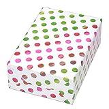Geschenkpapier 3 Rollen (75 x 150 cm), Motiv Rondo, bunt glänzendes Punkte-design. Für Geburtstag, Sommer, Kinder. Motiv Rondo, modern und hochwertig.