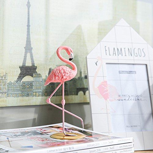 """Deko-Figur """"rosa Flamingo"""", aus Harz, für Mädchen, als Geschenk, für Heim, Hotel, Tisch, Schlafzimmer, zur Hochzeit oder zu Weihnachten, rose, B"""