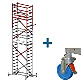 Krause ClimTec Alu Arbeitsgerüst Arbeitshöhe 6,00 m + 125 mm Rollen