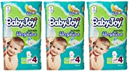 Babyjoy Compressed Diamond pad Diaper, Jumbo Pack Large Size 4, Count 144, 10 - 18 KG