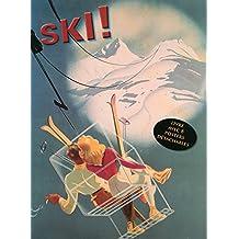 Ski ! Livre avec 8 posters détachables publicitaires rétro