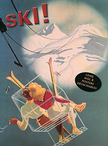 Ski ! Livre avec 8 posters détachables publicitaires rétro par Collectif