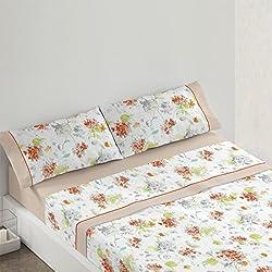 Burrito Blanco Juego de sábanas 686 Beige de cama de 150x190/200 cm