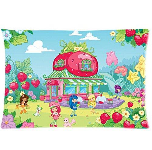 Daily Necessities Home Textil-, Print Muster Bettwäsche Sets Bettbezug Bettlaken Kissenbezüge Strawberry Shortcake 50,8x 76,2cm Zwei Seiten