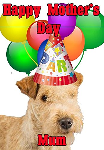 Lakeland Hat (Lakeland Terrier Hund Happy Mother 's Day Party Hat Karte chmd204 personalisierbar Grüße)
