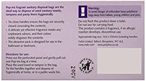 Robinson 8062 Pop-ins Sanpro Disposal Bags (Pack of 50)