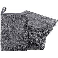 ZOLLNER24 Juego de 9 Manoplas de baño de Microfibra, Gris, Suave y Absorbente