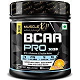 MuscleXP BCAA PRO With L-Glutamine, Citrulline Malate and BCAA 7000, Orange, 400g