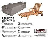 Raffles Covers NW-RSUN200 Abdeckhaube für Liege 200 x 70 H: 40 cm Schutzhülle für Liegen, Abdeckung für Gartenliegen, Schutzhülle für Sonnenliege