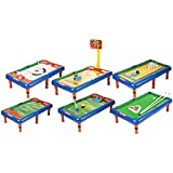 Emob 6 In 1 Action Table Outdoor Indoor Sports Toys With Multiple Gaming Accessories